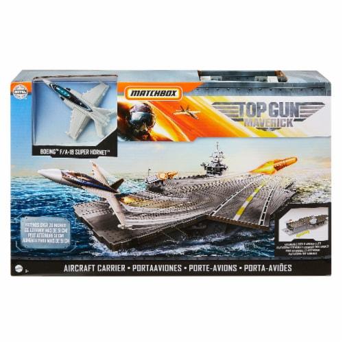 Mattel Matchbox Top Gun Maverick Aircraft Carrier Perspective: front