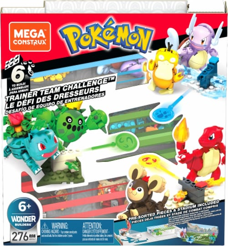 Mega Construx™ Pokemon Trainer Team Challenge Set Perspective: front