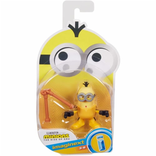 Fisher Price Despicable Me Minions: Rise of Gru Imaginext Kevin with Nunchucks Mini Figure Perspective: front