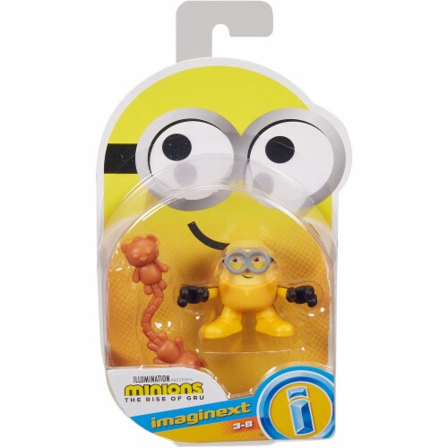 Fisher Price Despicable Me Minions: Rise of Gru Imaginext Bob with Nunchucks Mini Figure Perspective: front