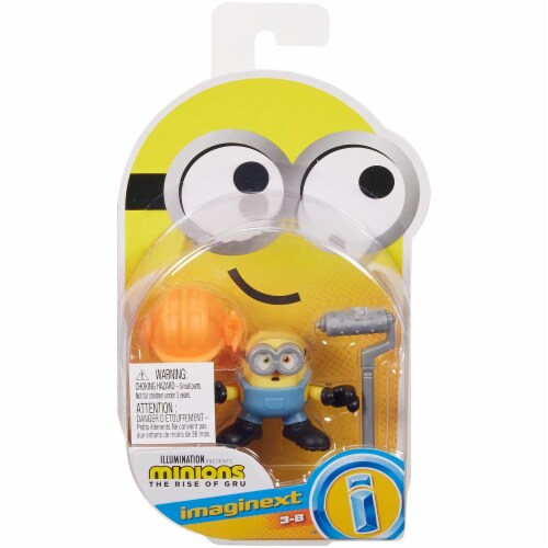 Fisher Price Despicable Me Minions: Rise of Gru Imaginext Bob with Hard Hat Mini Figure Perspective: front