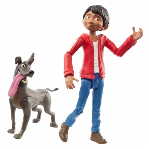 Mattel Disney Pixar Coco Miguel and Dante Action Figure Perspective: front