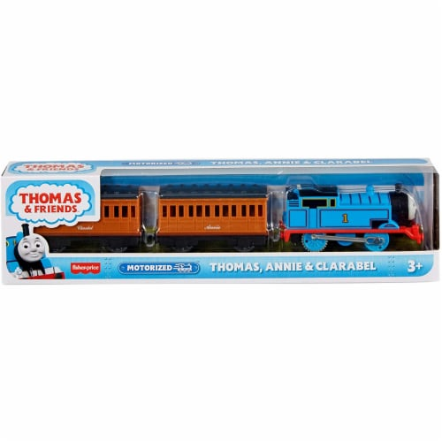 Thomas & Friends Fisher-Price Thomas Annie & Clarabel Motorized Toy Train Perspective: front