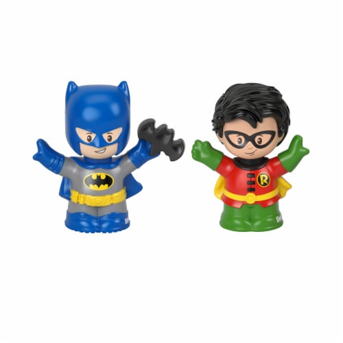 Fisher-Price® Little People DC Super Friends Batman & Robin Figures Perspective: front