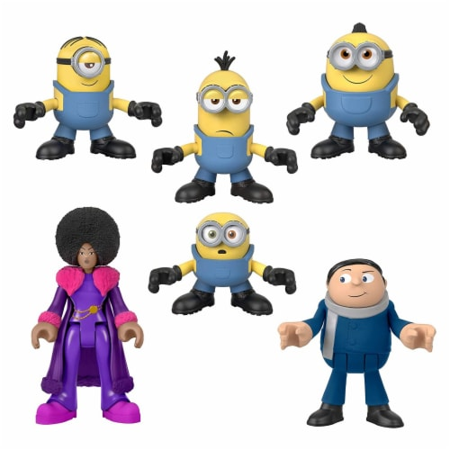 Fisher-Price Imaginext Minions Figure Pack, set of 6 film character figures Perspective: front