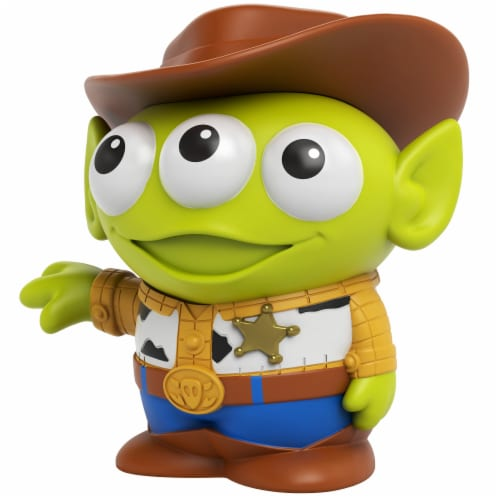 Mattel Disney Pixar Aliens Incognito Remix Woody Figure Perspective: front