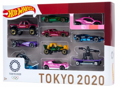 Mattel Hot Wheels® Tokyo 2020 Olympics Pack Perspective: front