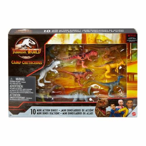 Mattel Jurassic World Camp Cretaceous Mini Action Dinos Perspective: front