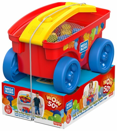 Mega Bloks® Pull 'n Play Wagon Perspective: front