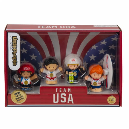 Fisher-Price® Little People Team USA 2020 Sports Set Perspective: front