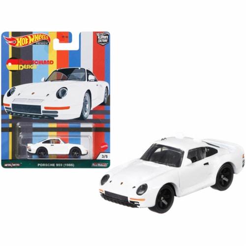 1986 Porsche 959 White \Deutschland Design\ Series Diecast Model Car by Hot Wheels Perspective: front