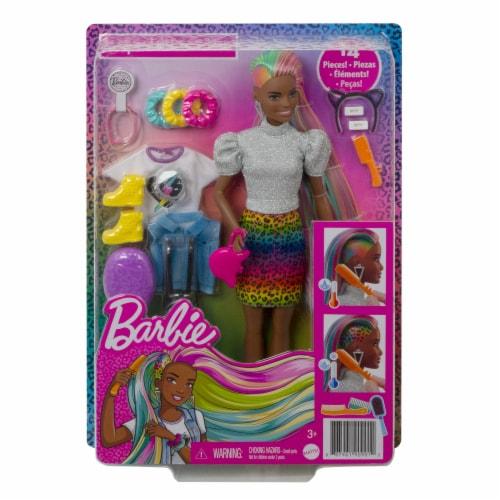 Mattel Barbie® Leopard Rainbow Hair Doll Perspective: front