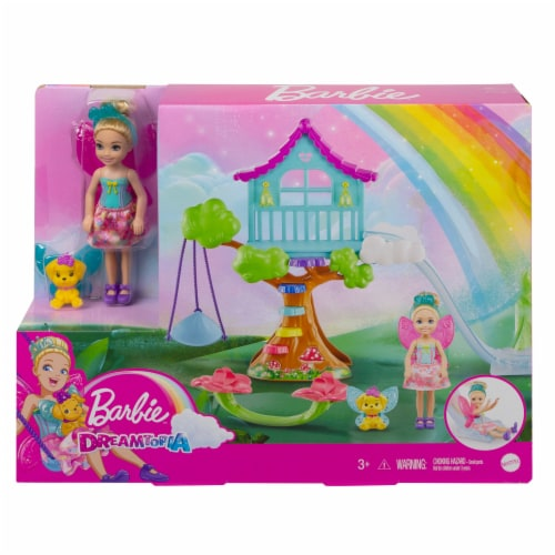 Mattel Barbie® Dreamtopia Chelsea Treehouse Playset Perspective: front