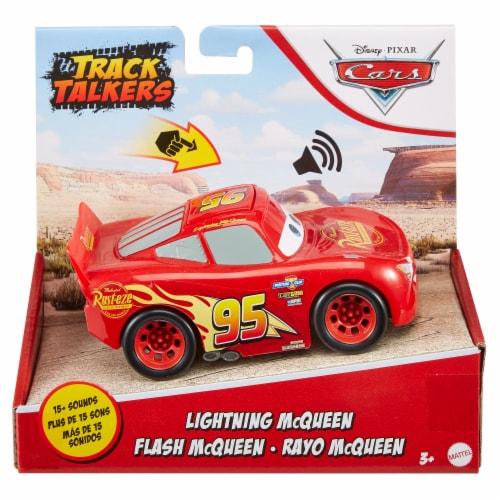 Mattel Disney Pixar Cars Track Talkers Lightning McQueen Vehicle Perspective: front