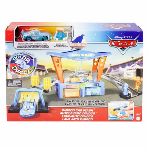 Mattel Disney Pixar Cars Color Change Dinoco Car Wash Playset Perspective: front