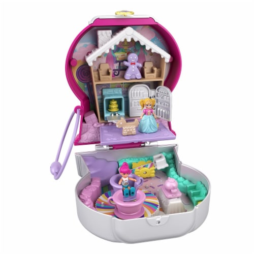 Mattel® Polly Pocket™ Candy Cutie Gumball Compact Playset Perspective: front