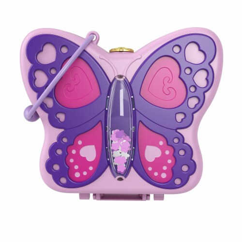 Mattel® Polly Pocket™ Backyard Butterfy Compact Playset Perspective: front