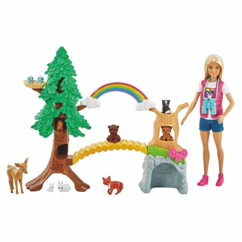 Barbie Wilderness Guide Interactive Play Set Perspective: front