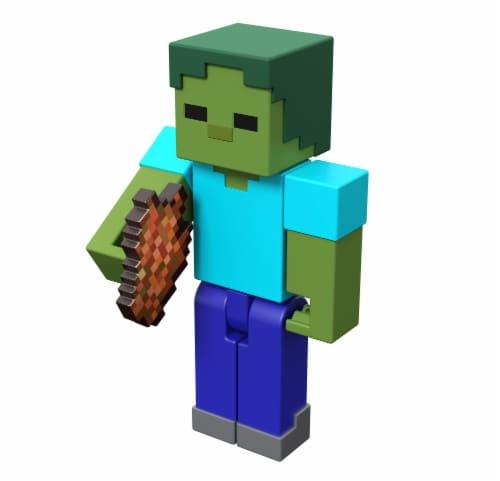 Mattel Minecraft Zombie Figure Perspective: front