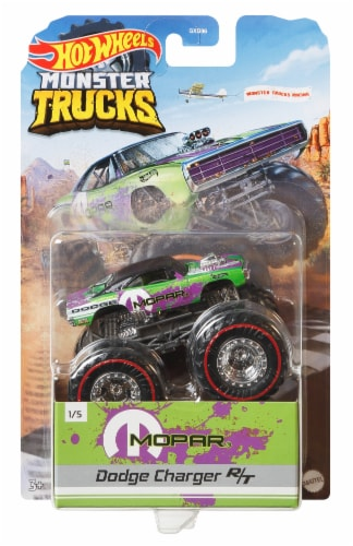 Mattel Hot Wheels® Monster Truck Dodge Charger Wheeled Vehicle Perspective: front
