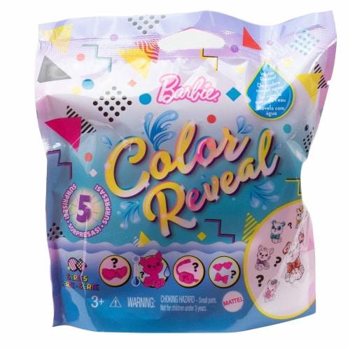 Barbie Color Reveal Pets Series Blind Bag Mini Figure Perspective: front
