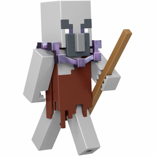 Minecraft Dungeons 3.25-in Collectible Geomancer Battle Figure and Accessories Perspective: front