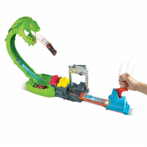 Mattel Hot Wheels® Toxic Snake Strike Playset Perspective: front