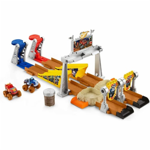 Fisher-Price Nickelodeon Blaze & the Monster Machines, Mud Pit Race Track Perspective: front
