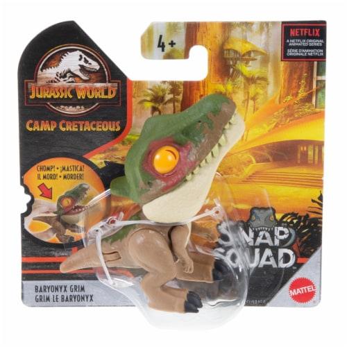 Mattel Jurassic World Baryonyx Snap Squad Dinosaur Toy Perspective: front