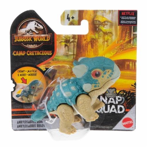 Mattel Jurassic World Ankylosaurus Bumpy Snap Squad Dinosaur Toy Perspective: front