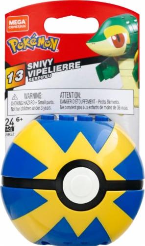 Mega Construx Pokemon Snivy Construction Set, Building Toys for Kids Perspective: front