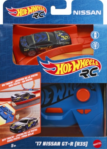 Mattel Hot Wheels® Remote-Controlled Nissan and Controller Perspective: front