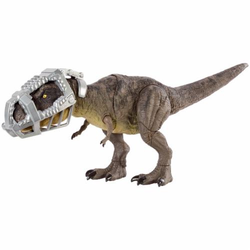 Mattel Jurassic World Stomp Attack Tyrannosaurus Rex Figurine Perspective: front