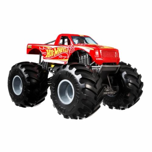 Mattel Hot Wheels® Monster Trucks Red Racing 3 Vehicle Perspective: front