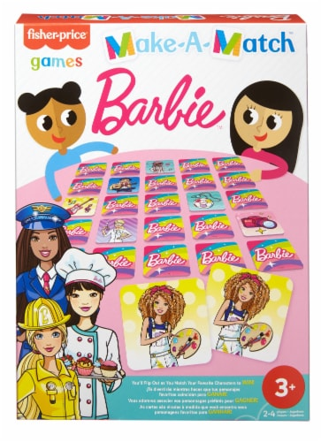 Mattel Fisher-Price® Make-A-Match Barbie® Card Game Perspective: front