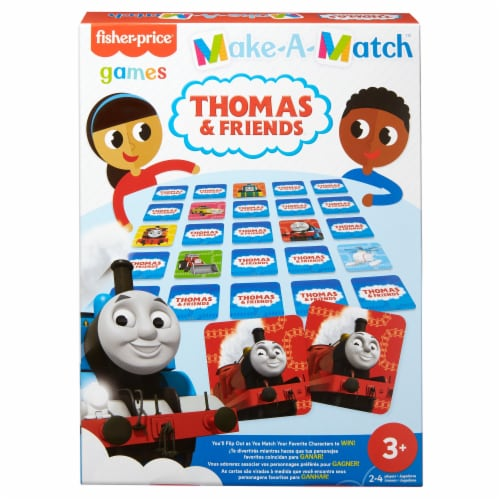 Mattel Fisher-Price® Make-a-Match Thomas & Friends Card Game Perspective: front