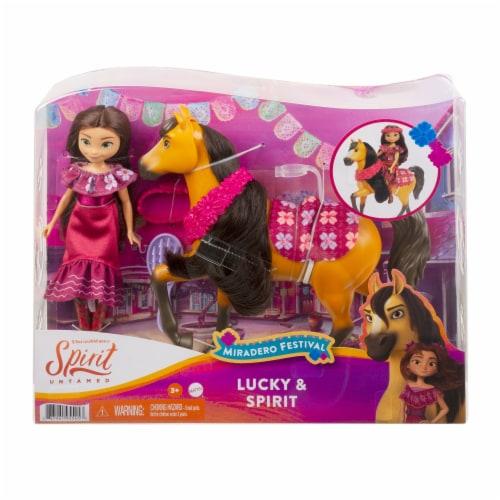 Mattel Spirit Untamed Miradero Festival Lucky and Spirit Playset Perspective: front