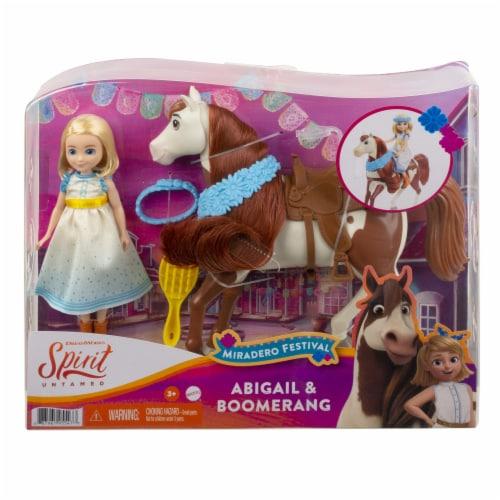 Mattel Spirit Untamed Miradero Festival Abigail & Boomerang Doll Set Perspective: front