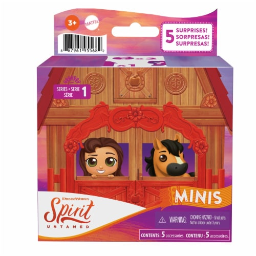Mattel Spirit Untamed Mini Horse & Character Surprise Box Perspective: front