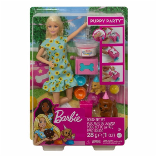 Mattel Barbie® Puppy Party Doll and Playset Perspective: front