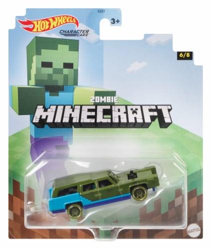 Mattel Hot Wheels® Minecraft Zombie Character Car Perspective: front