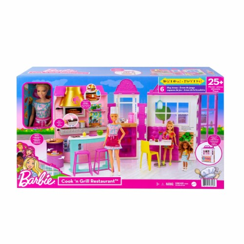 Mattel Barbie® Cook 'n Grill Restaurant Doll and Playset Perspective: front