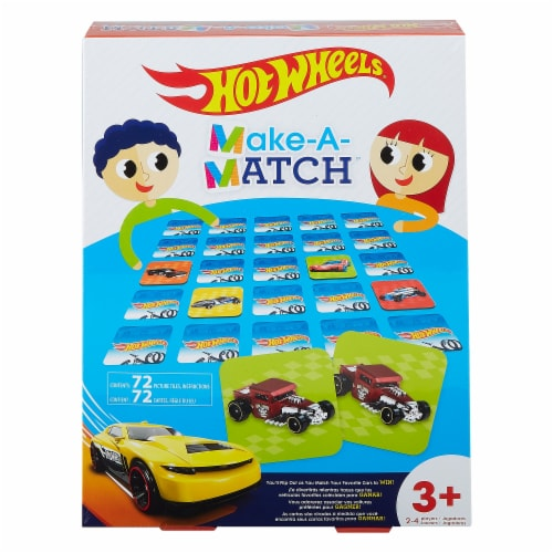 Mattel Hot Wheels® Preschool Make-a-Match Matching Game Perspective: front