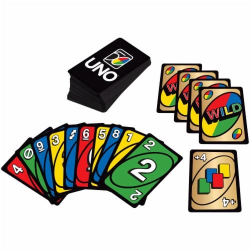 Mattel UNO 50th Anniversary Premium Edition Wild Card Game Perspective: front
