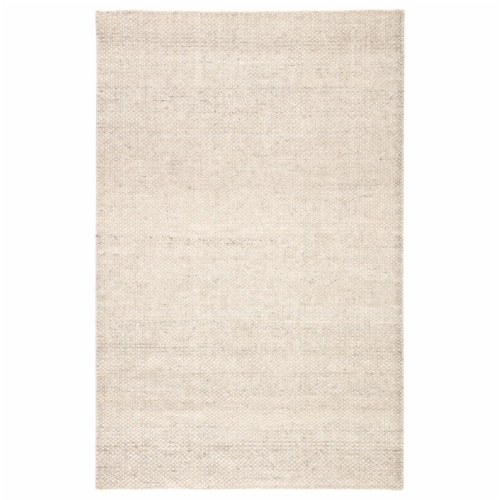 Jaipur Living RUG143182 Limon Indoor & Outdoor Area Rug, Solid Ivory & Gray - 7 ft. 10 in. x Perspective: front