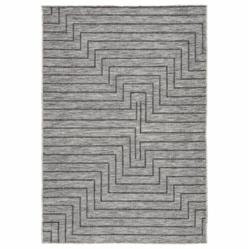 Jaipur Living RUG144377 Xantho Indoor & Outdoor Geometric Area Rug, Gray - 7 ft. 11 in. x 10 Perspective: front