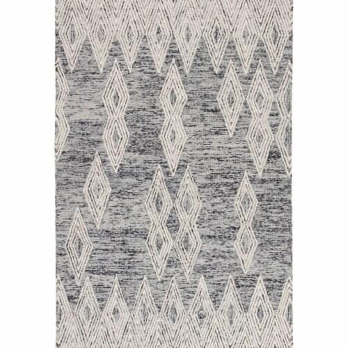 Jaipur Living RUG144808 2 x 3 ft. Nikki Chu Mulberry Handmade Geometric Gray & Ivory Area Rug Perspective: front