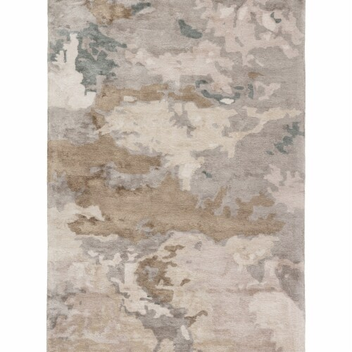 Jaipur Living RUG145735 9 x 12 ft. Glacier Handmade Abstract Light Gray & Taupe Area Rug Perspective: front