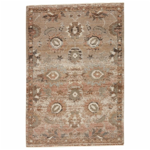 Vibe by Jaipur Living RUG146872 Milana Oriental Blush & Tan Runner Rug , 2 ft. 6 in. x 12 ft. Perspective: front