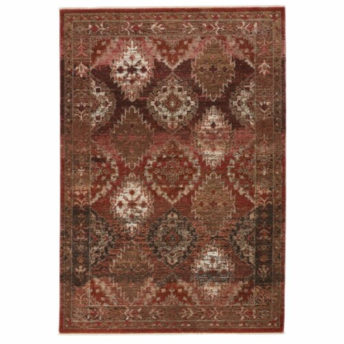 Vibe by Jaipur Living RUG146846 Lia Medallion Rust & Pink Runner Rug , 2 ft. 6 in. x 12 ft. Perspective: front